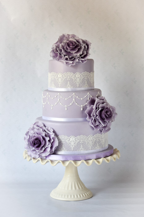 Icing Lace For Wedding Cakes